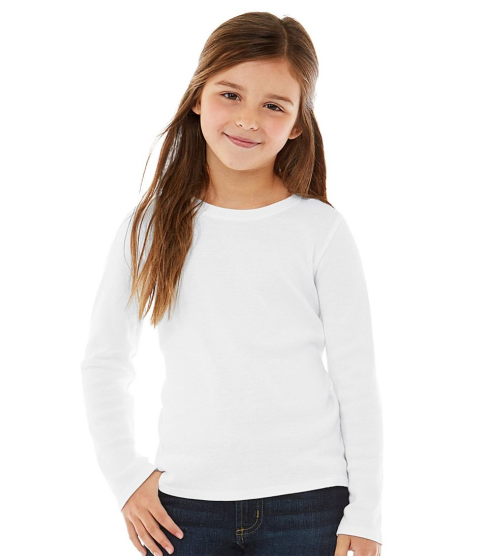 Girls' Freeport Knit Tee, Long-Sleeve