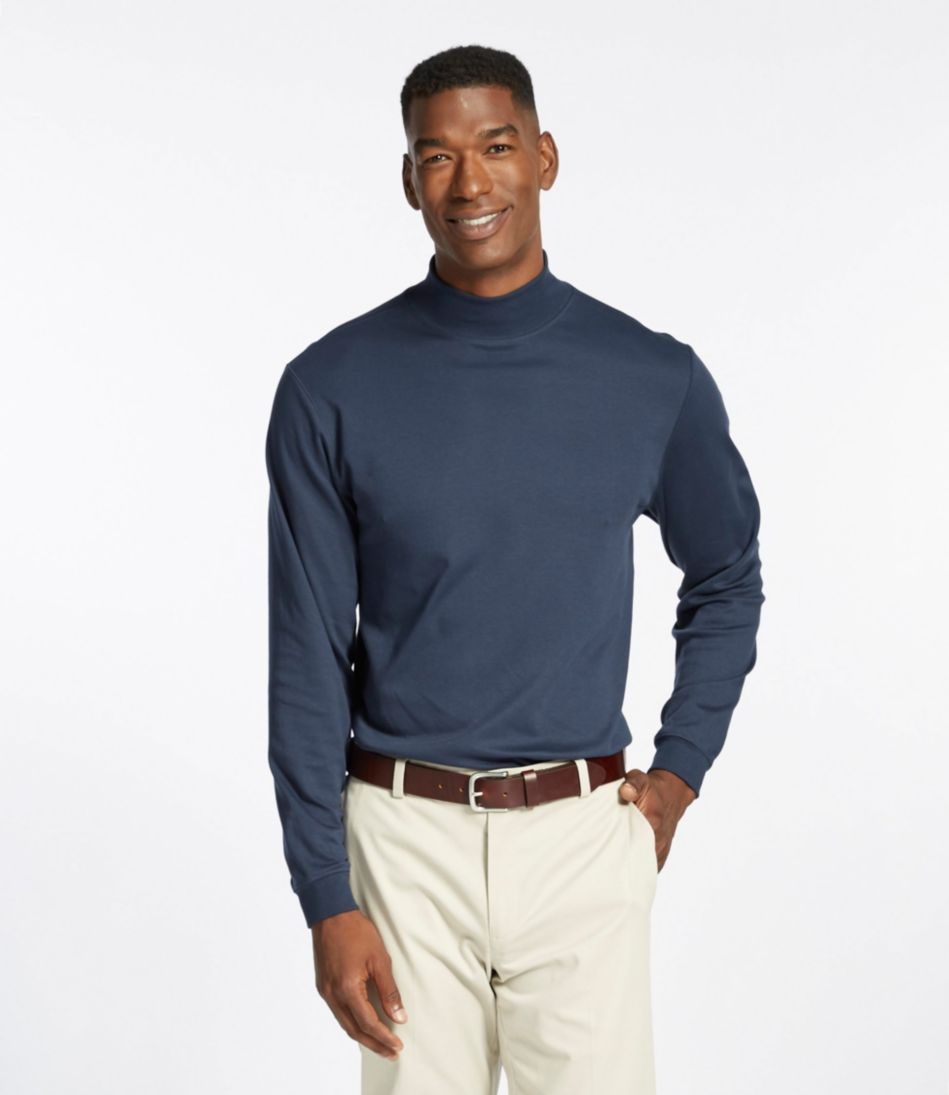 Pima Cotton Mock-Neck, Traditional Fit