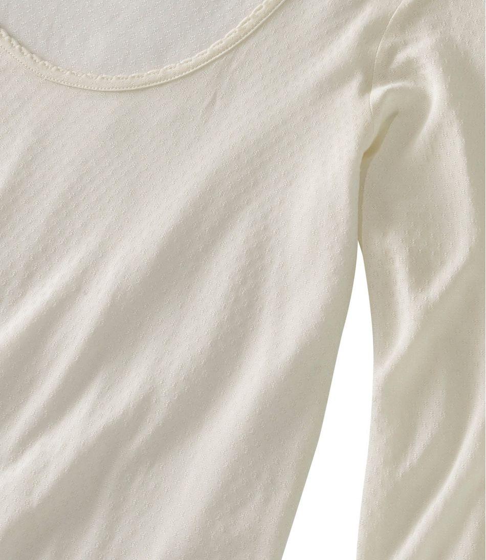 Women's Silk Pointelle, Long-Sleeve Scoopneck