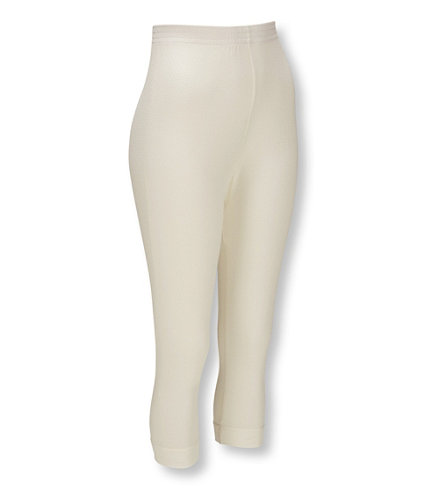 Silk Pointelle Capri Pants