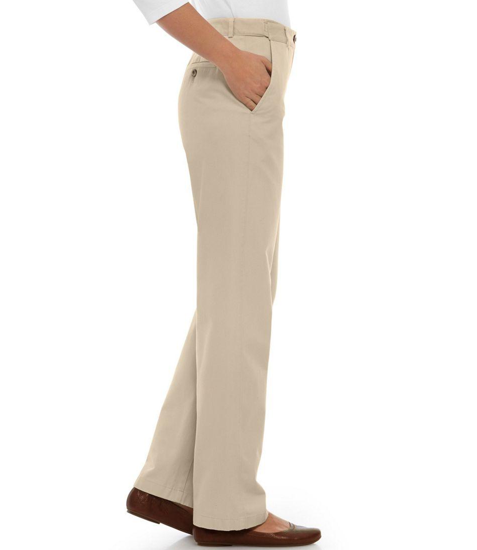 Women's Wrinkle-Free Bayside Pants, Classic Fit Hidden Comfort Waist