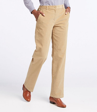 Women's Stretch Bayside Corduroys, Classic Fit Straight-Leg Plain ...