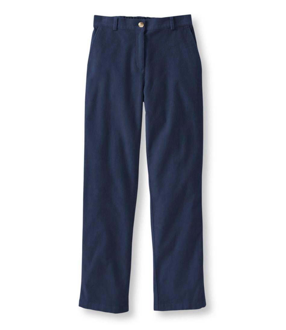 Stretch Bayside Corduroys, Classic Fit Straight-Leg Plain-Front Comfort Waist