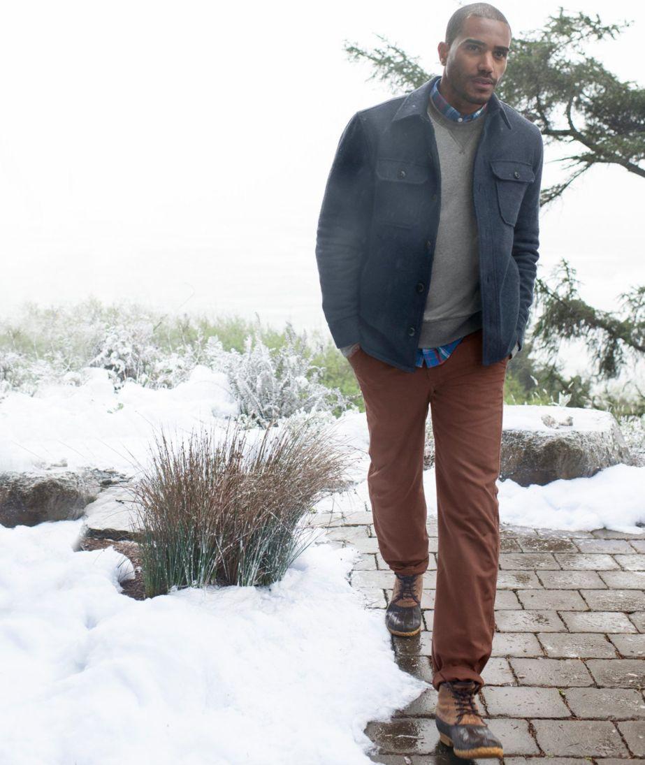 Signature Lined Wool-Blend Shirt Jacket, Slim Fit