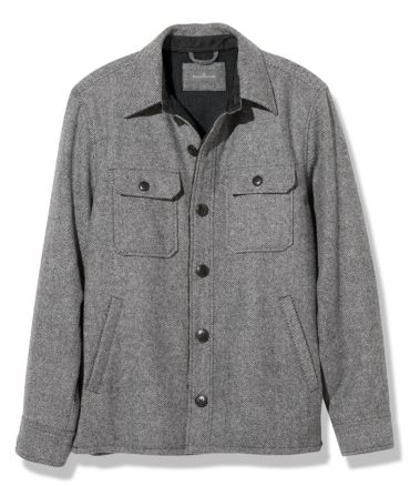 Signature Lined Wool-Blend Shirt Jacket, Slim Fit