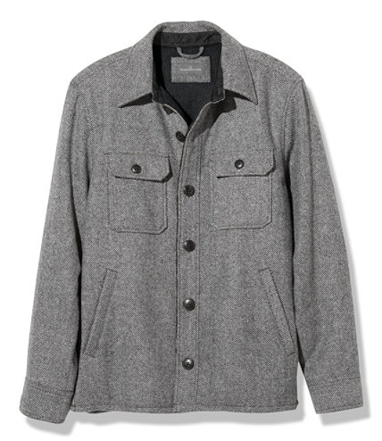 Men&39s Signature Lined Wool-Blend Shirt Jacket Slim Fit | Free