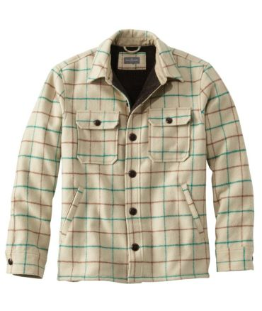 Signature Lined Wool-Blend Shirt Jacket, Slim Fit Plaid