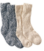 Cotton Ragg Camp Socks,Two-Pack