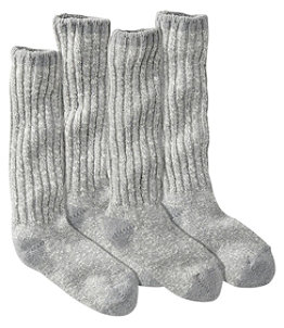 Women's Cotton Ragg Camp Socks,Two-Pack