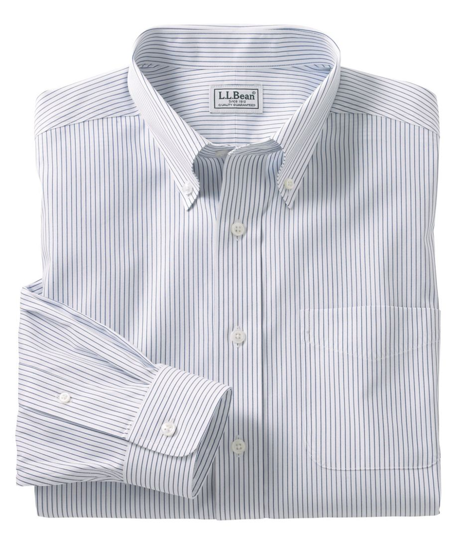 1e522a88942ad Men's Wrinkle-Free Pinpoint Oxford Cloth Shirt, Traditional Fit Stripe