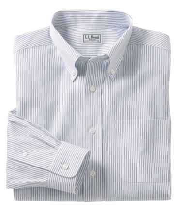 Wrinkle-Free Pinpoint Oxford Cloth Shirt, Traditional Fit Stripe