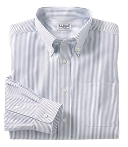 Men's Wrinkle-Free Pinpoint Oxford Cloth Shirt, Traditional Fit Stripe