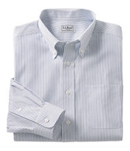 Wrinkle-Free Pinpoint Oxford Cloth Shirt, Slightly Fitted Stripe