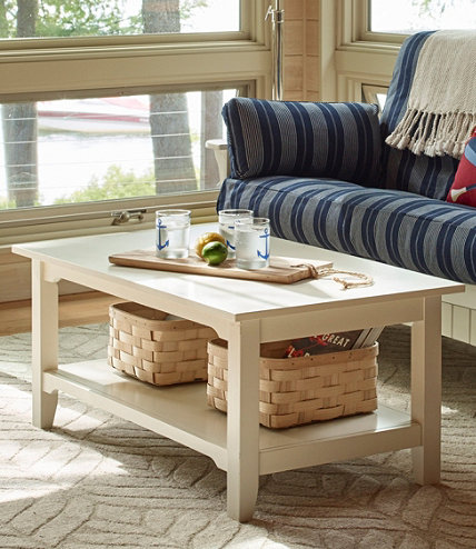Painted cottage coffee table llbean for Small cottage coffee table