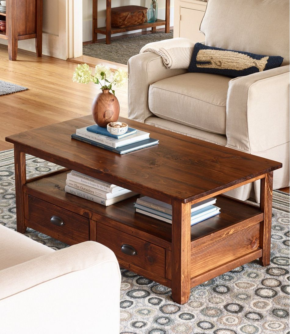 - Rustic Wooden Coffee Table