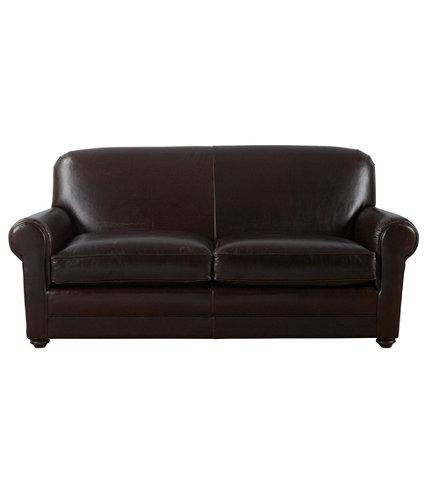 - L.L.Bean Leather Lodge Sofa L.L.Bean
