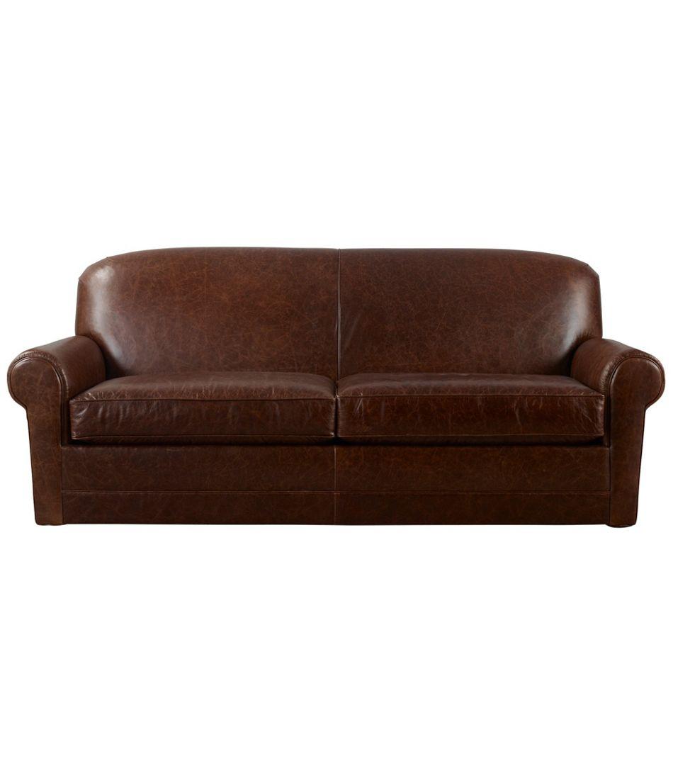L.L.Bean Leather Lodge Sofa
