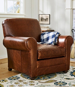 L.L.Bean Leather Lodge Chair