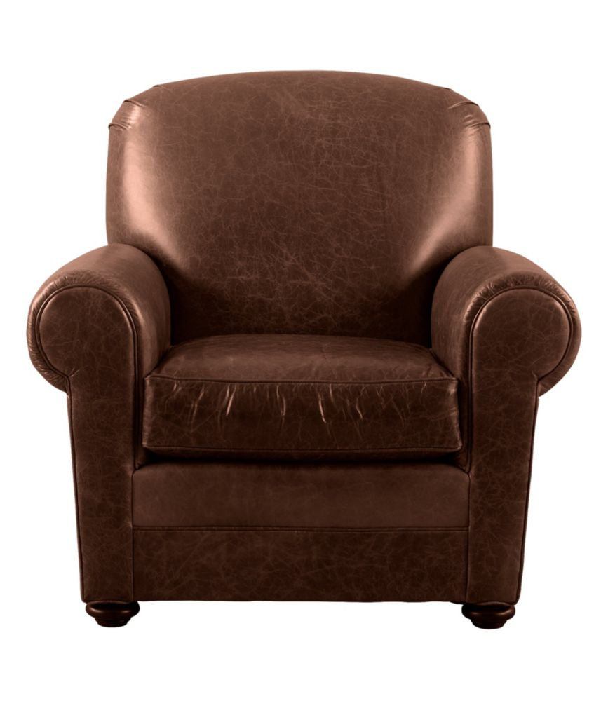 Picture of: L L Bean Leather Lodge Chair