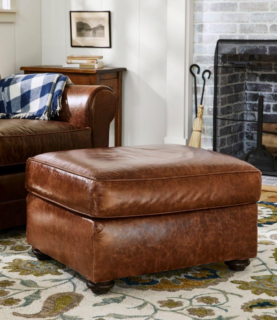 L.L.Bean Leather Lodge Ottoman