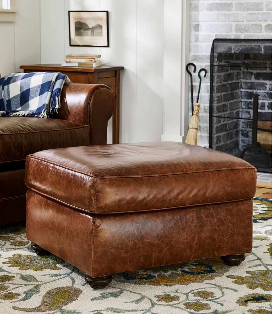 L.L.Bean Leather Lodge Ottoman