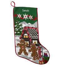 Christmas Needlepoint Stocking, Cotton