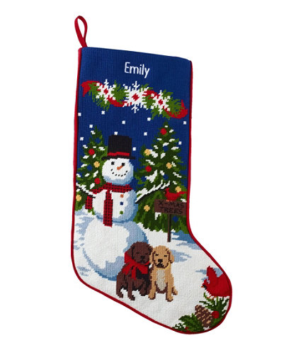 Needlepoint Christmas Stocking Holiday Items At L L Bean