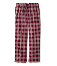 L.L.Bean Fleece Pants, Plaid