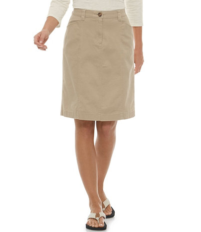 Women's Easy-Stretch Skirt, Twill | Free Shipping at L.L.Bean