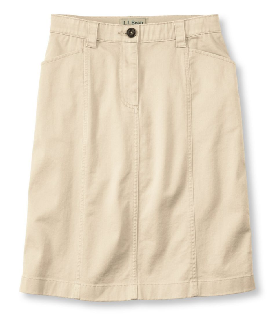Easy-Stretch Skirt, Twill
