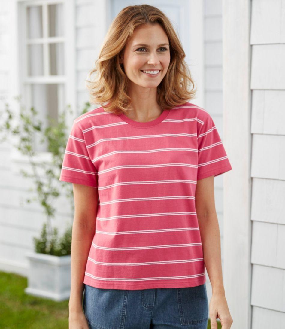 Saturday T-Shirt, Short-Sleeve Crewneck Stripe