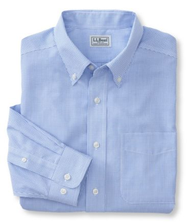 Wrinkle-Free Vacationland Sport Shirt, Traditional Fit Mini-Check