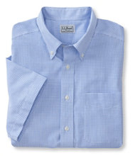Wrinkle-Free Vacationland Sport Shirt, Traditional Fit Short-Sleeve Mini-Check