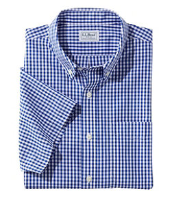 Men's Wrinkle-Free Vacationland Sport Shirt, Traditional Fit Short-Sleeve Gingham