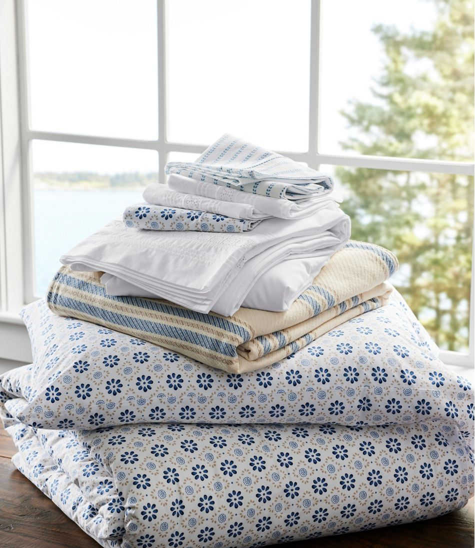 Sunwashed Percale Sheet Collection, Print