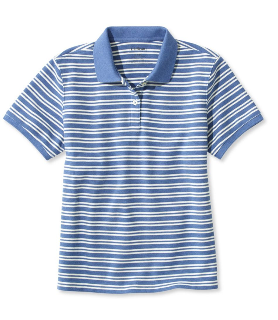 Premium Double L® Polo, Relaxed Fit Short-Sleeve Stripe