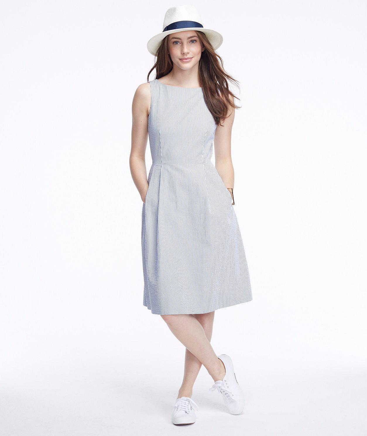 Women's Signature Seersucker Dress, Stripe | Free Shipping at L.L.Bean