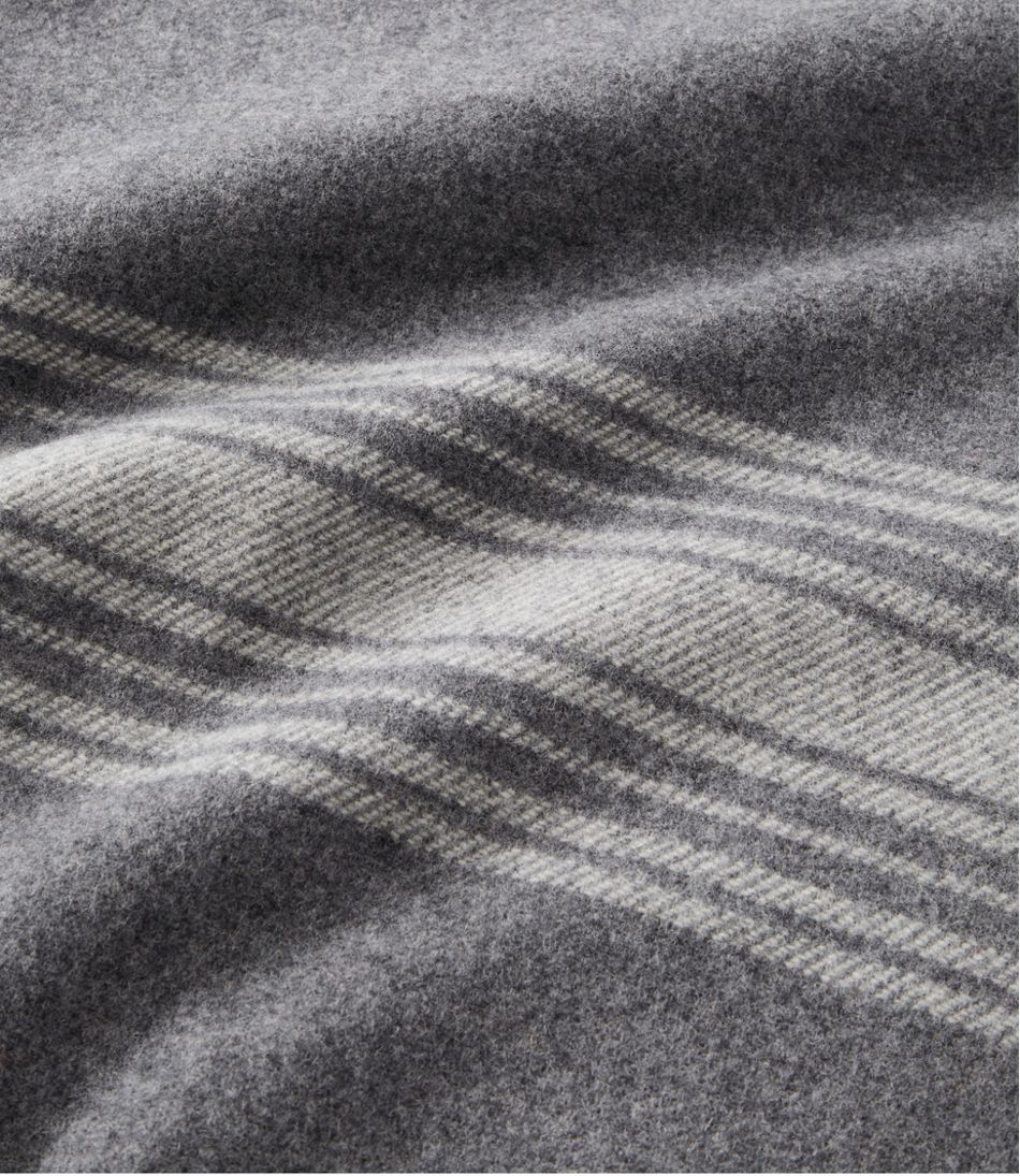 Washable Wool Throw, Striped
