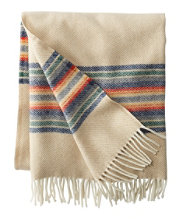 Washable Wool Throw, Striped