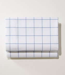280-Thread-Count Pima Cotton Percale Sheet, Flat, Windowpane