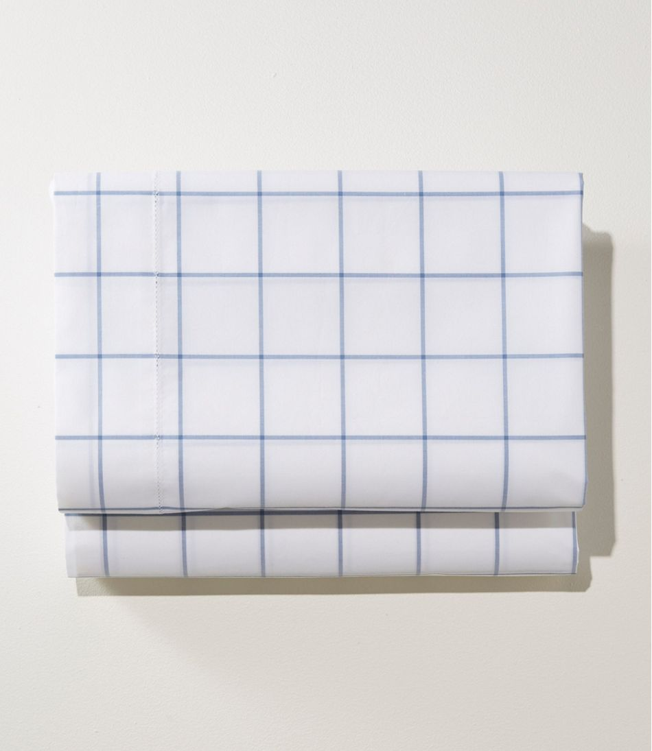 280-Thread-Count Pima Cotton Percale Sheet, Fitted, Windowpane