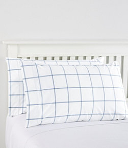 280-Thread-Count Pima Cotton Pillowcases, Windowpane, Set of Two