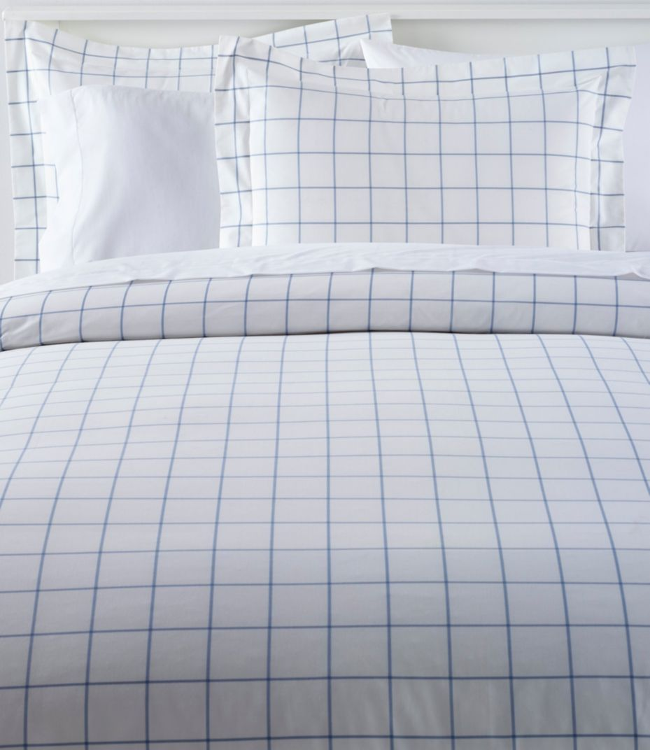 280 Thread Count Pima Cotton Percale Comforter Cover Collection Windowpane