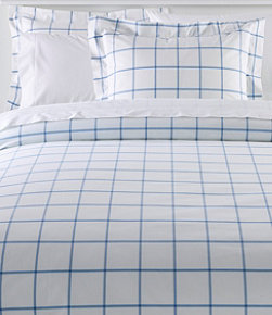 280-Thread-Count Pima Cotton Percale Comforter Cover Collection, Windowpane