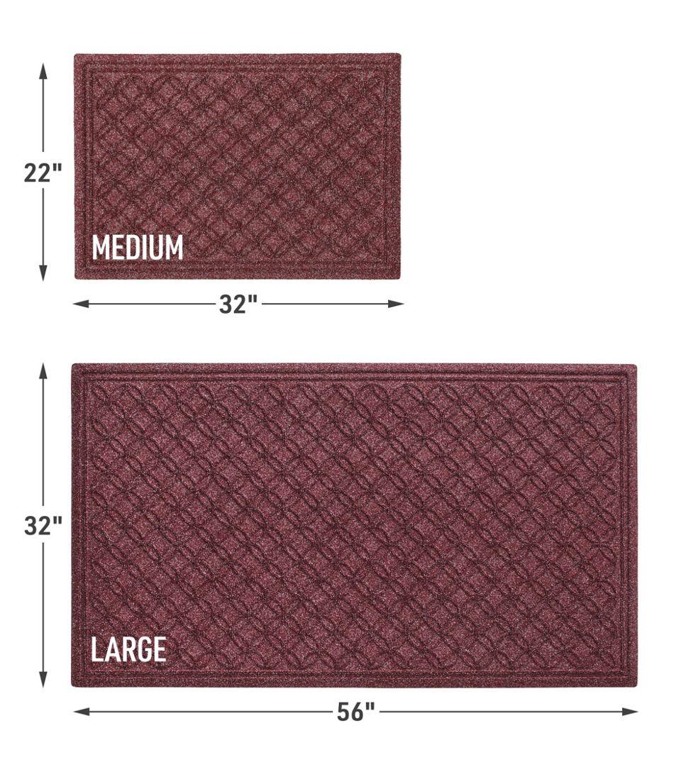Heavyweight Recycled Waterhog Doormat, Locked Circles
