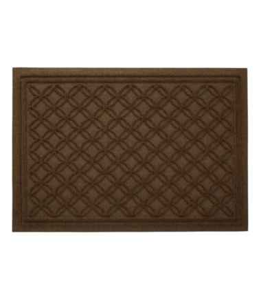 Heavyweight Recycled Waterhog Doormat, Locked Circles