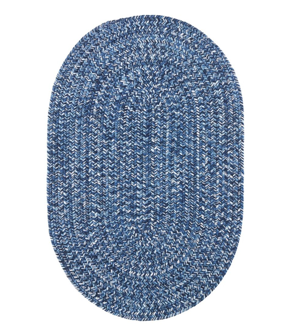 All Weather Braided Rug Concentric Pattern Oval