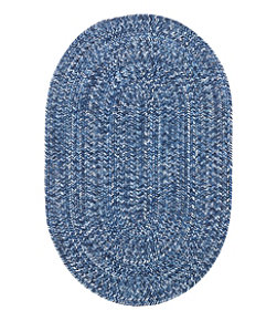 All-Weather Braided Rug, Concentric Pattern Oval