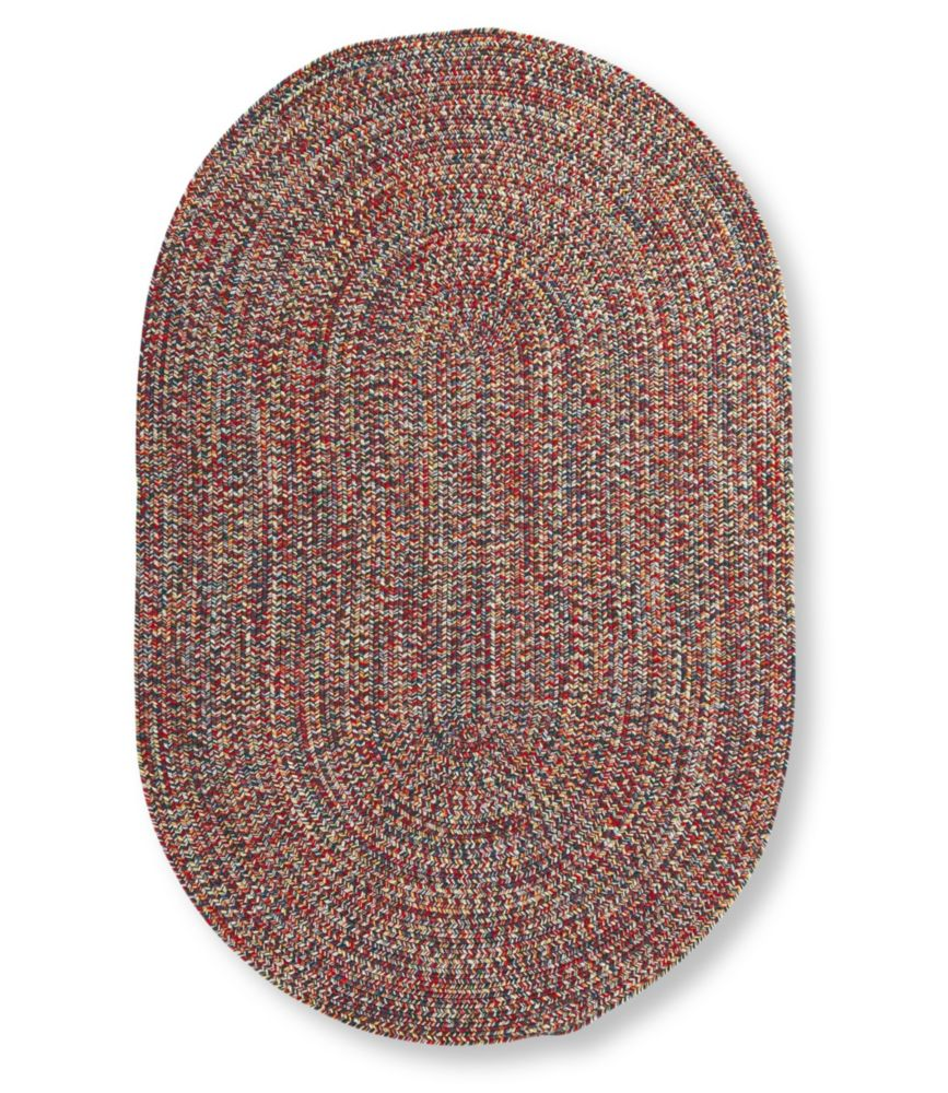 All Weather Braided Rug, Concentric Pattern Oval