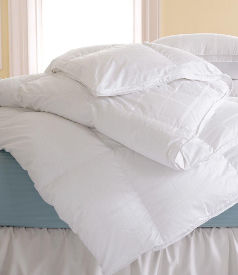 Sateen White Goose Down Comforter, Warm